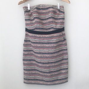 The Limited Strapless Aztec Print Dress